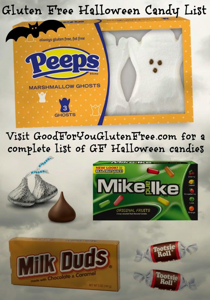 list of gluten free halloween candy
