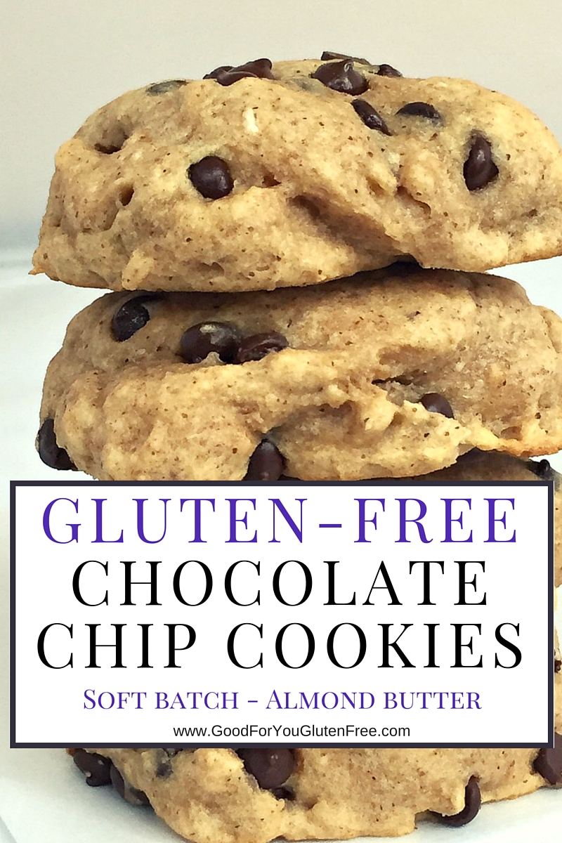 Gluten Free Chocolate Chip Cookies with Almond Butter
