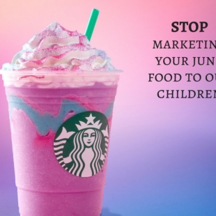 Starbucks stop marketing to children