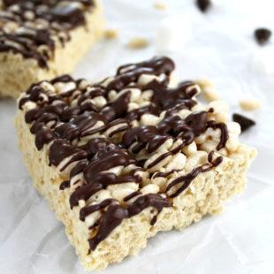 Close up of Gluten-Free Rice Krispies Treat - header