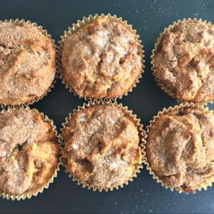 Almond Flour Apple Pie Muffins header
