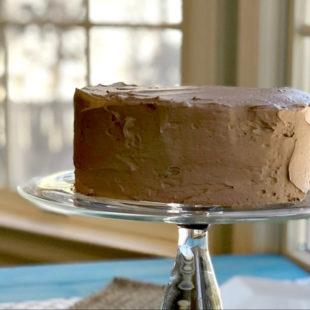Gluten-Free Devil's Food Cake Recipe header