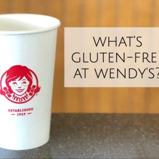 Wendy's gluten-free menu header