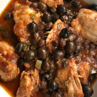 Slow Cooker Picante Chicken Thighs header