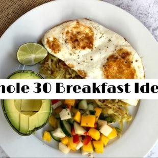 Whole 30 Breakfast Ideas - header