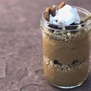 Vegan Pumpkin Pie Chia Pudding Parfait Recipe - header