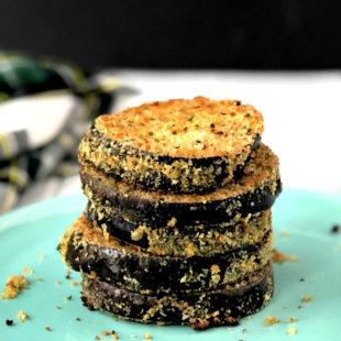 Gluten-Free Breaded Eggplant Slices - header